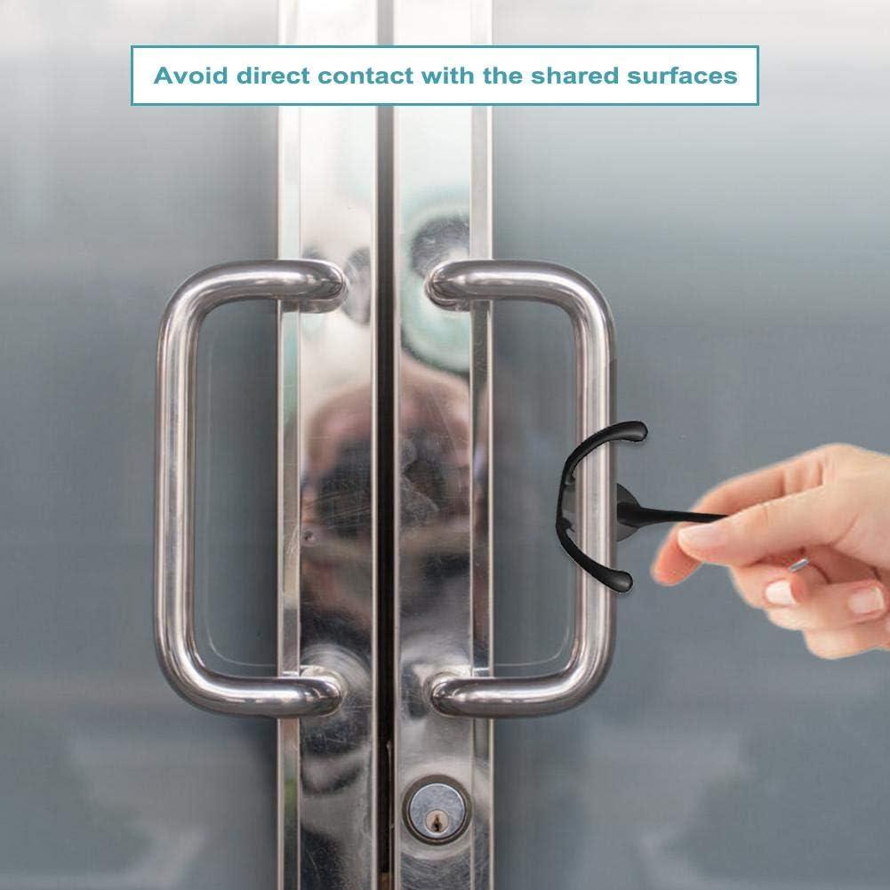 N//X Handheld Non-Contact Door Opener /& Stylus Keychain Tool,Protection Utlity Tool,Self-Cleaning Reusable Hand Brass EDC Door Opener Protection