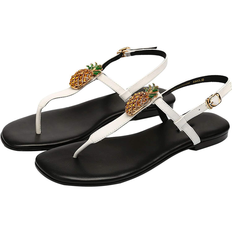 PF007 Yuren Snow 2019 Summer Women Sandals Diamond Decoration Sandals Flat Beach shoes Flip Flops Woman Sandals