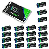 20 Batteries Pack of EdisonBright EBR65 type 16340 rechargeable CR123A RCR123A 3.7v protected li-ion batteries