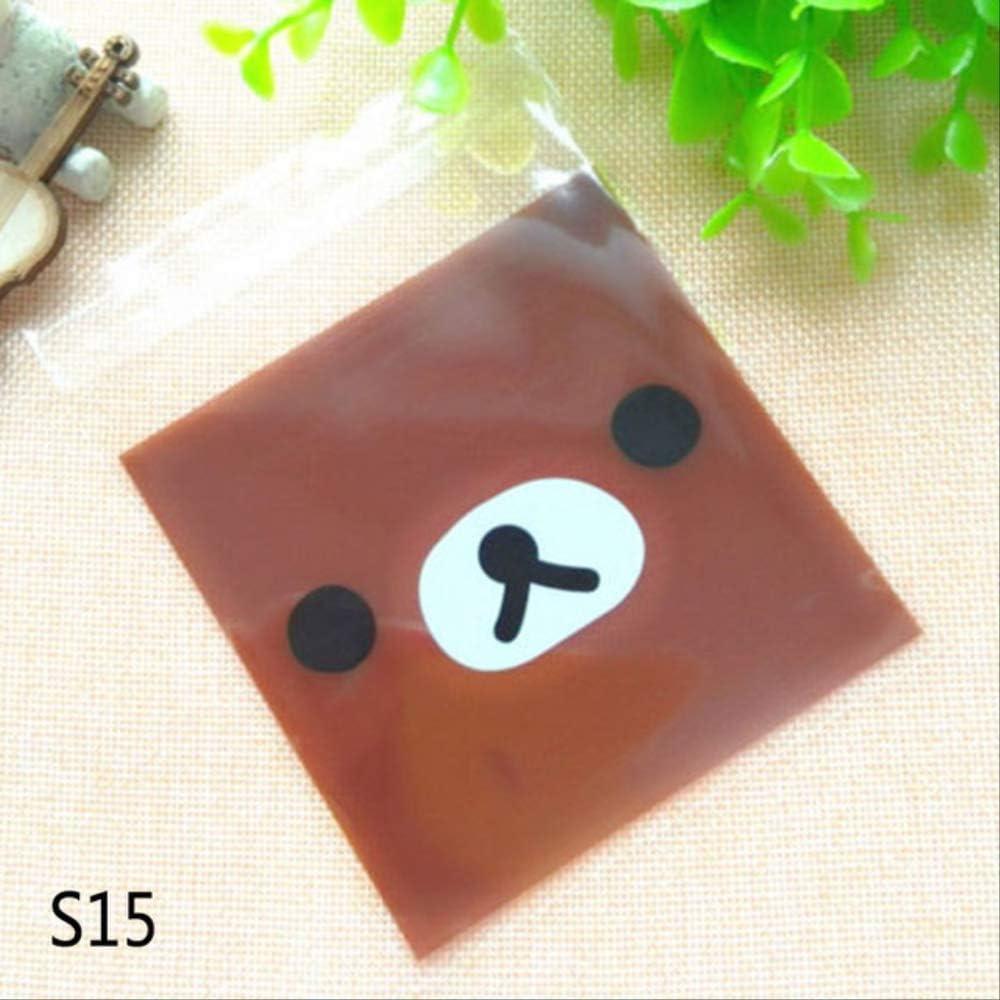 100pcs corte bolsa de dibujos animados bolsa de plástico boda cumpleaños galletas dulces regalo embalaje bolsas autoadhesivas niños fiesta favor
