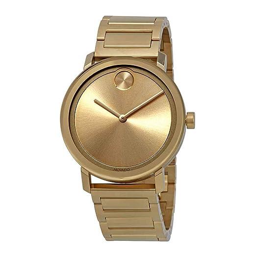 Movado Bold Reloj de Hombre Cuarzo 40mm Correa y Caja de Acero 3600508: Amazon.es: Relojes
