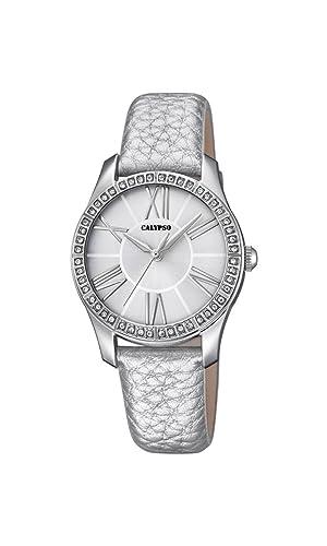 Calypso Reloj Análogo clásico para Mujer de Cuarzo con Correa en Cuero K5719/1: Calypso: Amazon.es: Relojes