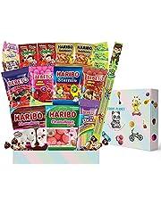 Haribo Bebeto Gummy Candies, Marshmallows, geléer, tyggegummi med kulsyre, slik, æske med internationale snacks, til Halloween, filmaftener og gaveposer, tjenester (22 stykker)