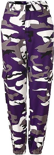 Women 's Casual Slim Fit Camo Cargo Joggers Harem Pants