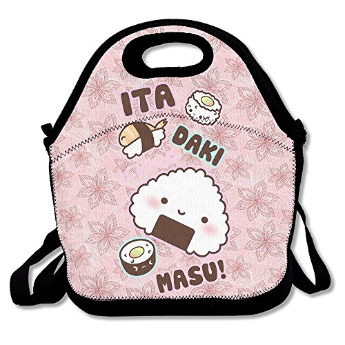 Mkajkkok Kawali Cute Sushi Lunch Tote Lunch Bags With Neoprene -