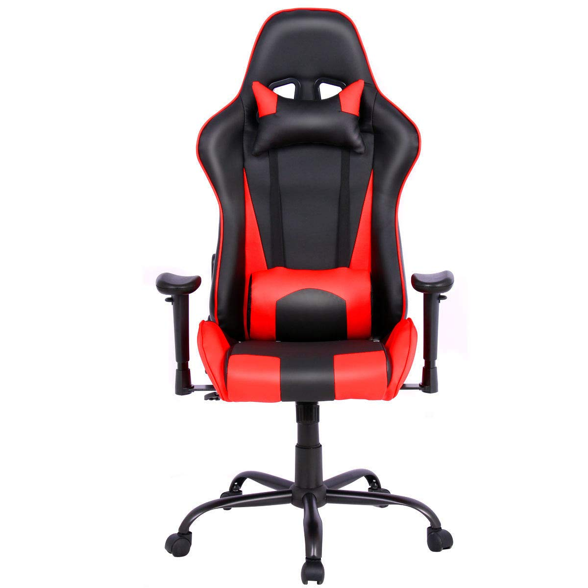 Tremendous Ghp 300 Lbs Capacity Black Red Leather Full Recline Racing Style Gaming Chair Forskolin Free Trial Chair Design Images Forskolin Free Trialorg