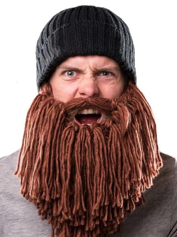 Kuyou Lustige Bartmütze Strick Beanie Mütze Skimaske Winter Hat