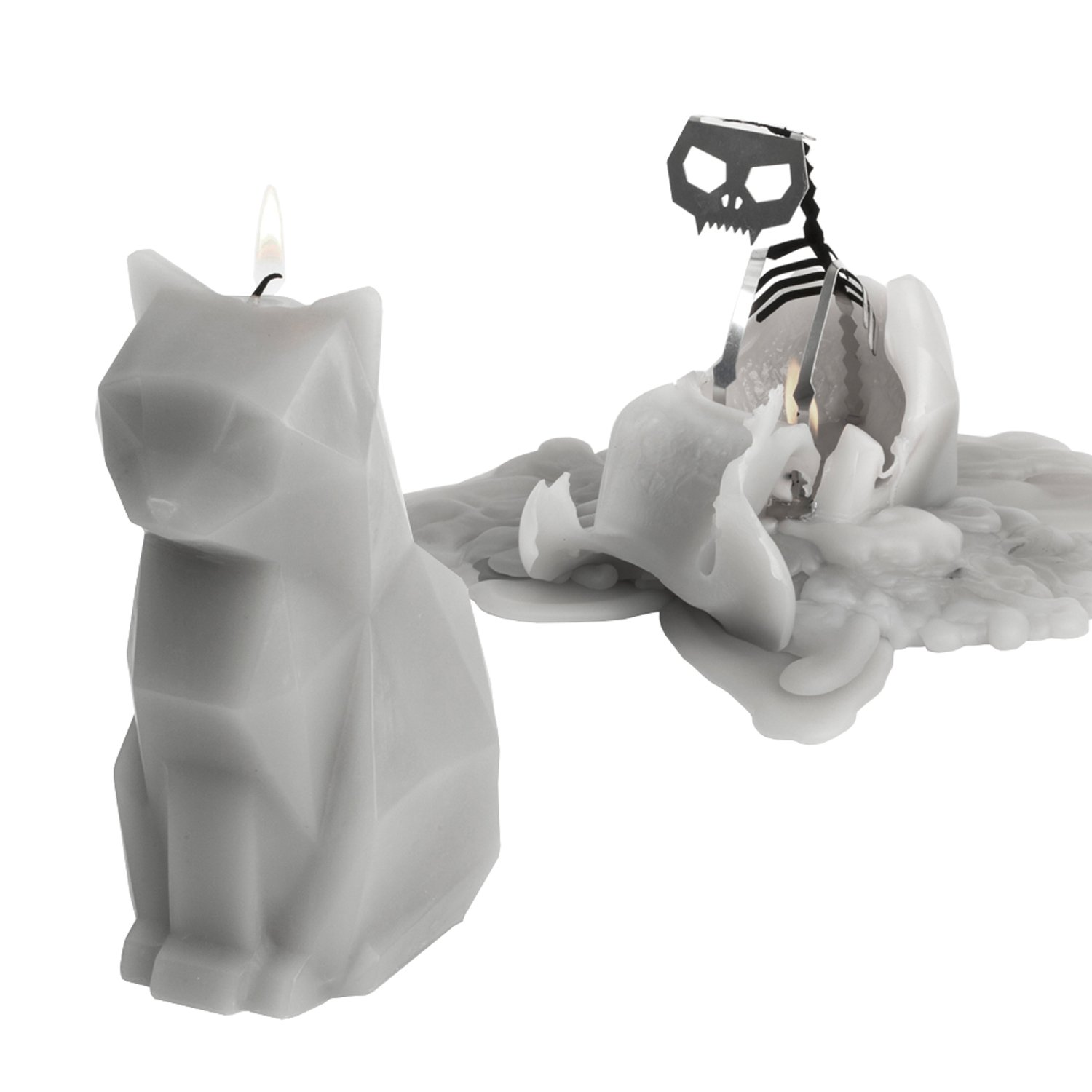 PyroPet Candles Kisa Candle, Gray by PyroPet