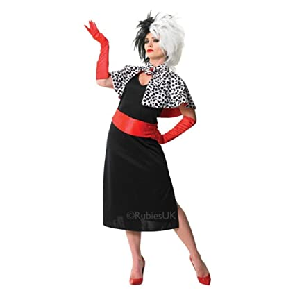 Rubies Official Ladies Cruella De Vil Adult Costume - Large