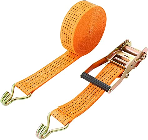ROK Straps All Purpose Flat Tie Down Luggage Strap with hooks 48 inch x 3//4 inch
