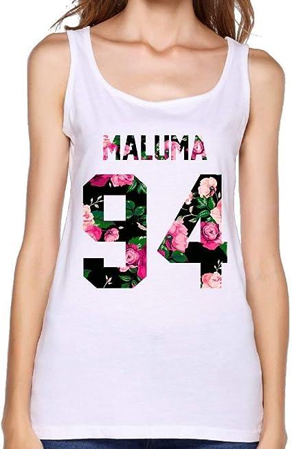 Camiseta sin Mangas Blanca Maluma Fitness Sports para Mujer ...