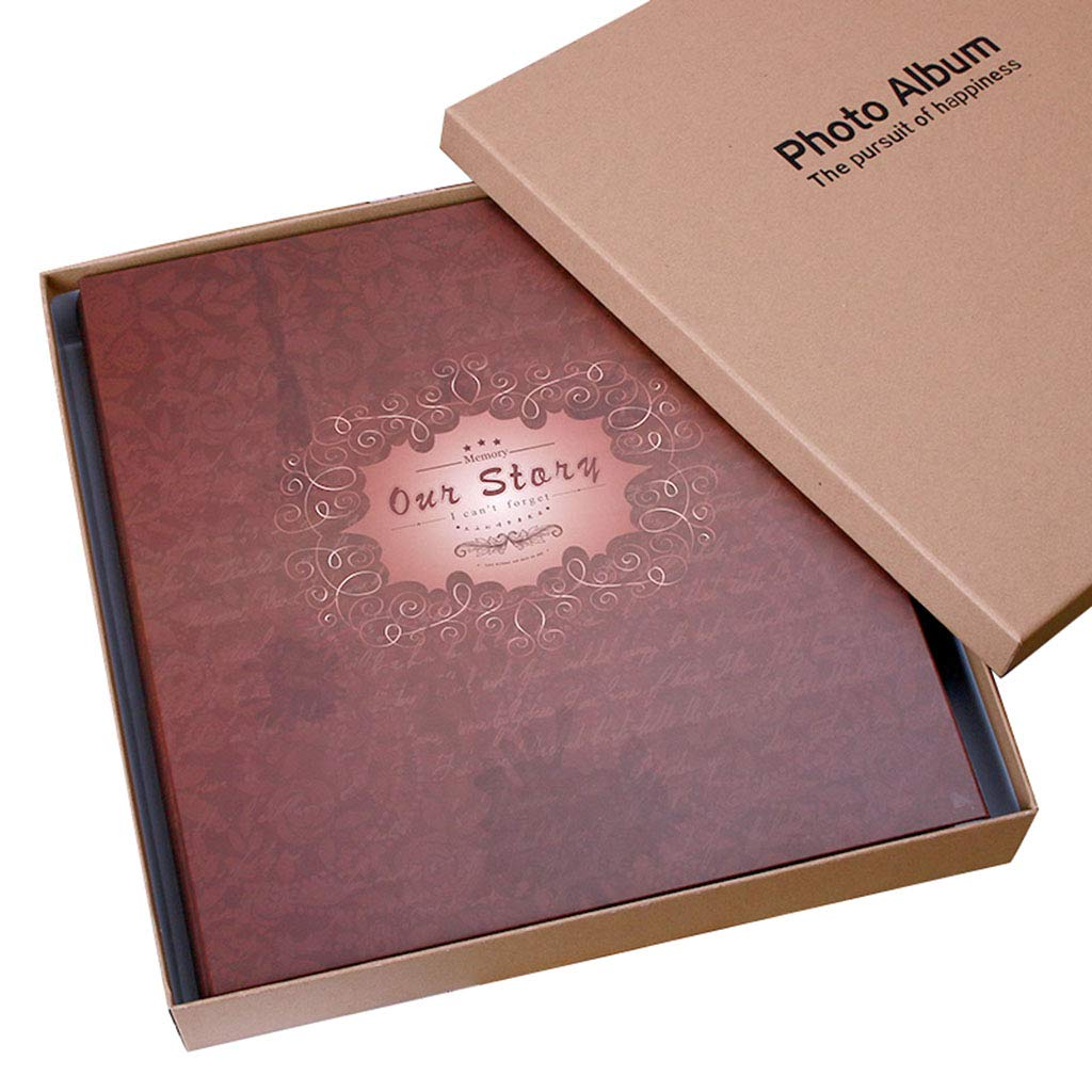 Interstitial Album, 800 Pockets can Hold 6x4 Photos, Boxed Photo Album,Wedding Photo Album (Color : Color 2, Size : 35x36cm)