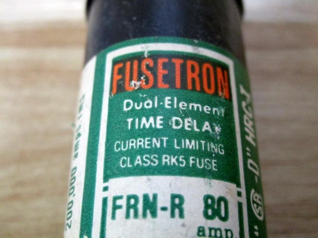 Fusetron 80A Time Delay Fiberglass Class RK5 Fuse 250VAC//125VDC
