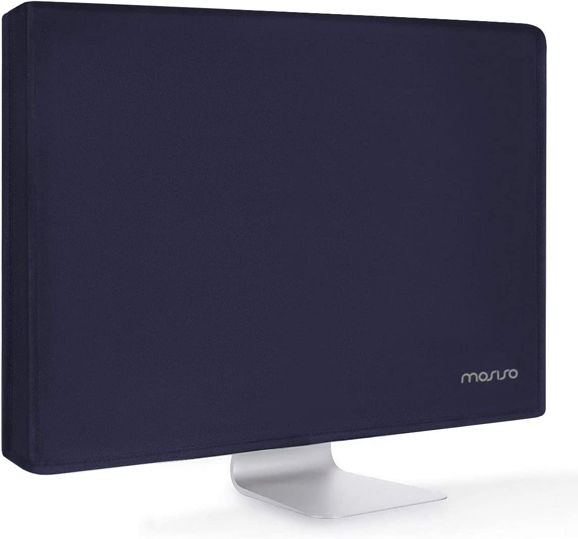 MOSISO Monitor Dust Cover 19,19.5,20,20.5,21 inch Anti-Static Polyester LCD/LED/HD Panel Case Screen Display Protective Sleeve Compatible with 19-21 inch PC, Desktop Computer and TV, Navy Blue