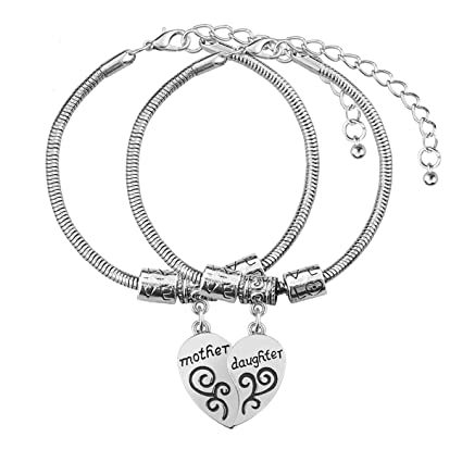amazon com mother daughter gifts bracelet 2pcs mom daughter gift