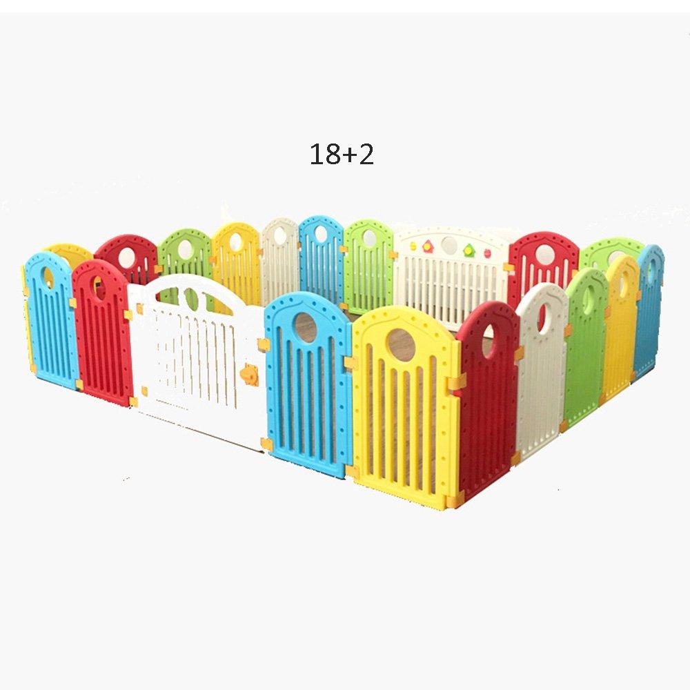 XIAOMEI 赤ちゃんのカラフルなプラスチックPlaypenキッズアクティビティセンターの安全な遊び公園幼児の安全フェンスの玩具手すり ベッドの手すり 232*193cm  B07GMSWSK3