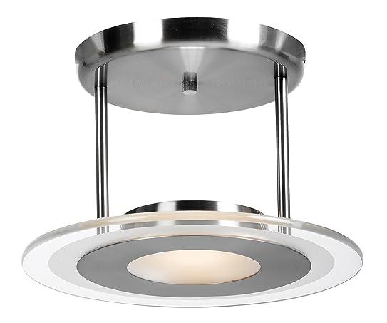 contemporary 2 helius lighting. Access Lighting 50481-BS/CFR Helius Semi Flush Ceiling Light Contemporary 2