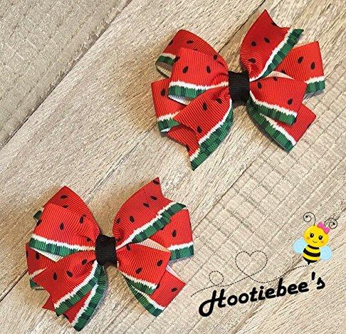 Watermelon Toddler Hair Bow Set ()