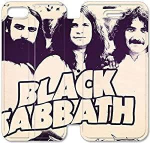 Black Sabbath-5 iPhone 5C Leather Flip Case Protective Cover New Colorful