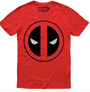 Mascara de Latex Marvel Deadpool Mens T-Shirt Size Medium