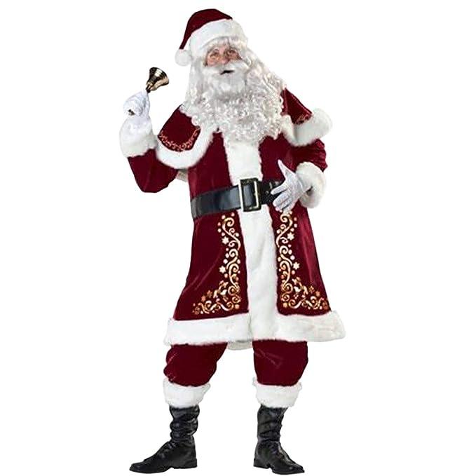 Amazon.com: Uheng - Traje de Papá Noel de lujo para hombre ...