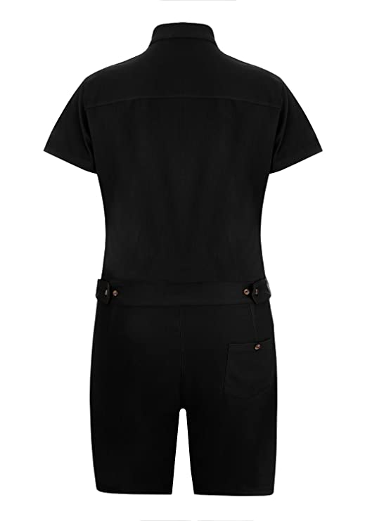 da1b6435ea3 Gemijack Mens Romper Short Sleeve One Piece Slim Fit Jumpsuits Plain  Overalls at Amazon Men s Clothing store