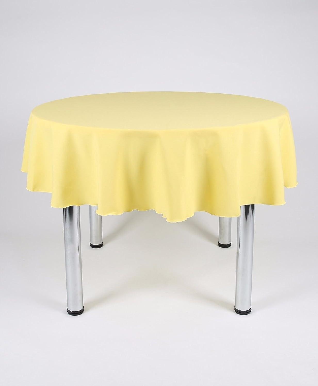 Plain tela mantel 10 diferentes tamaños 100% poliéster amarillo (limón) color