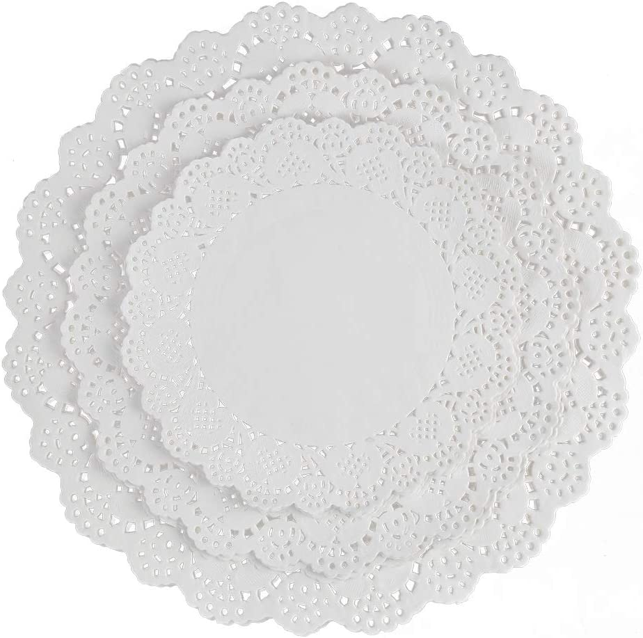 108 PCS Paper Lace Doilies Combo, Pack 36 each 6.5