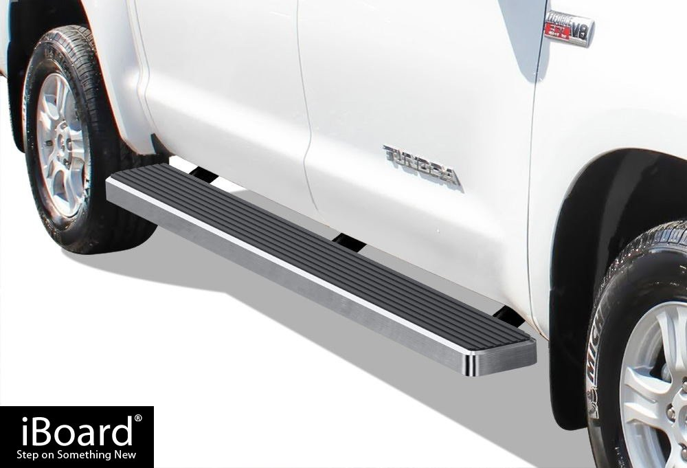 """iBoard Running Boards 6/"""" Matte Black Fit 07-19 Toyota Tundra Double Cab"""