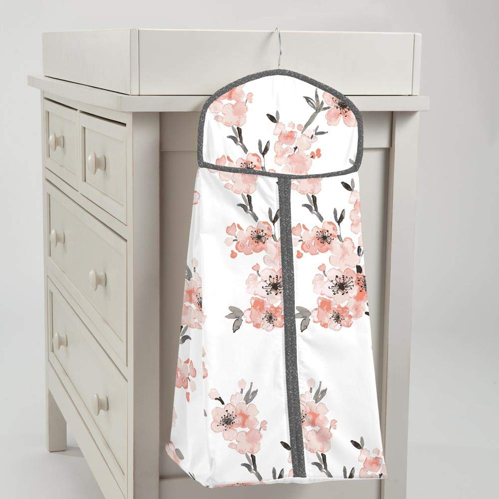 Carousel Designs Light Coral Cherry Blossom Diaper Stacker by Carousel Designs