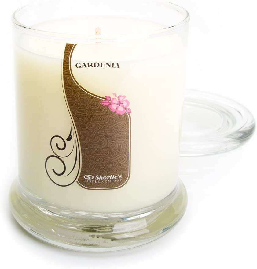 Pure Gardenia Candle - Medium White 10 Oz. Highly Scented Jar Candle - Made with Essential & Natural Oils - Flower & Floral Collection