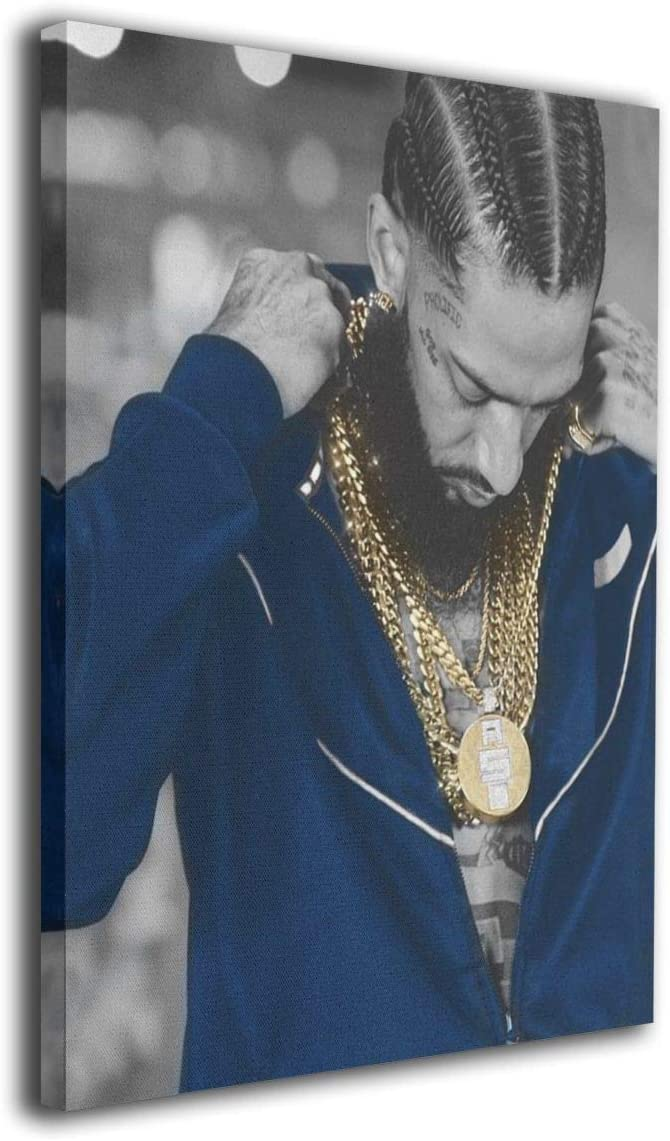 Nipsey-Hussle Canvas Artwork Prints Contemporary Wall Decor For Home Living Room Bedroom Decoration Office Wall Decor Framed Ready To Hang