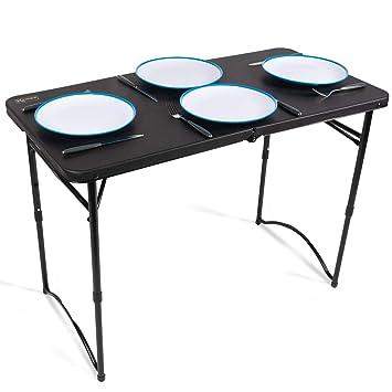 Mesa plegable para camping, mesa plegable para jardín, mesa de ...