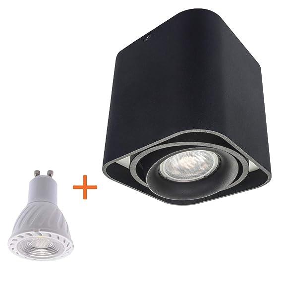 enthalten 6W leuchtmittel, schwenkbar Strahler Spotlight Downlight Ceiling light Budbuddy LED Aufbaustrahler Aufbauleuchten Aufputz Deckenlampe Deckenleuchten GU10 Fassung 230V