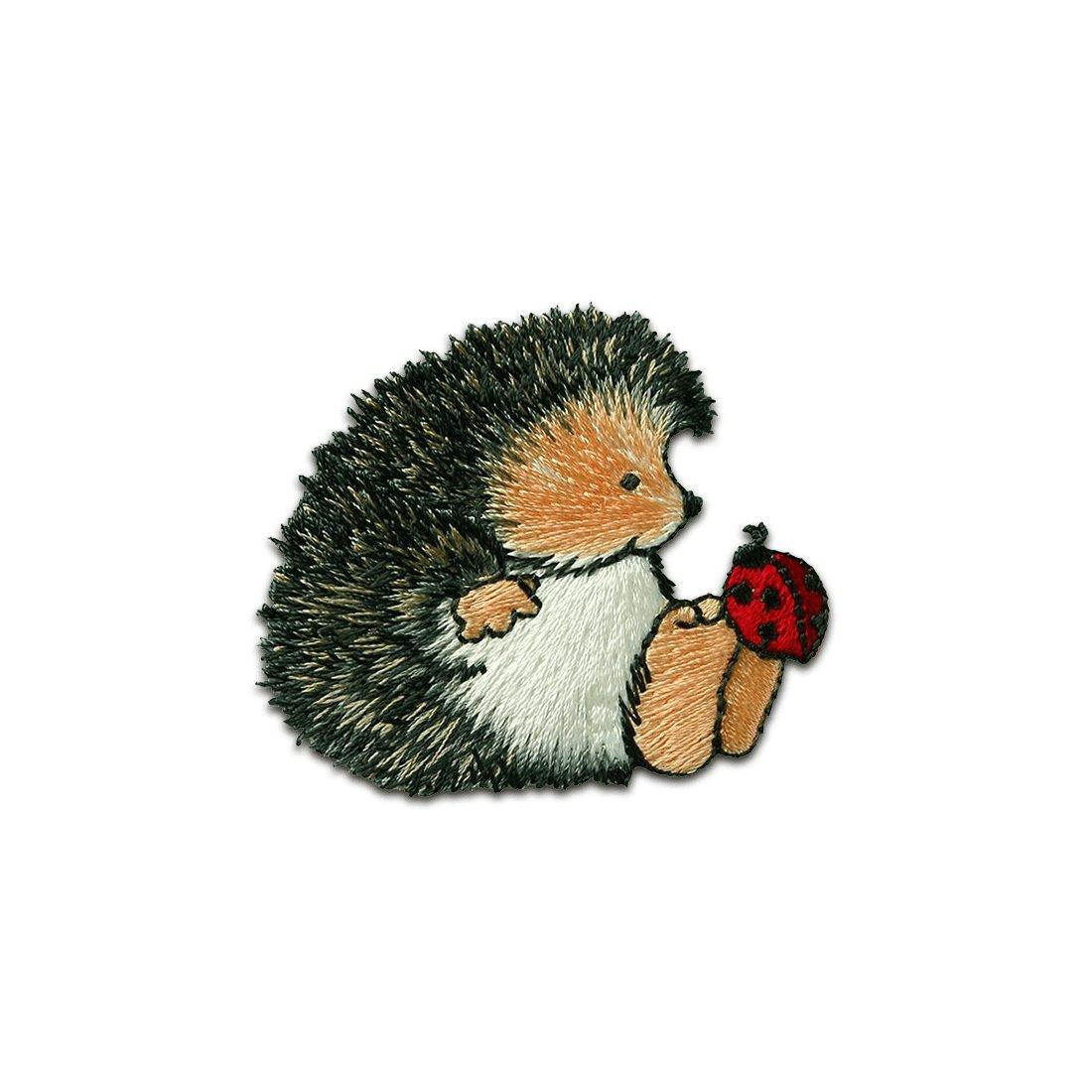 Toppe termoadesive - Margaret Sherry riccio con coleottero animale bambini -grigio - 4, 6x5, 5cm - by catch-the-patch Patch Toppa ricamate Applicazioni Ricamata da cucire adesive