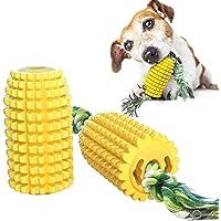 WLHOPE - Juguete para perro, palo de maíz molar para perros, resistente a mordeduras con cuerda, juguete para perros…
