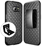 Galaxy S7 Edge Holster Case REDshield [Black] Supreme Protection Slim Matte Rubberized Hard Plastic Case with Holster & Belt Clip for Samsung Galaxy S7 Edge with Travel Wallet Phone Stand