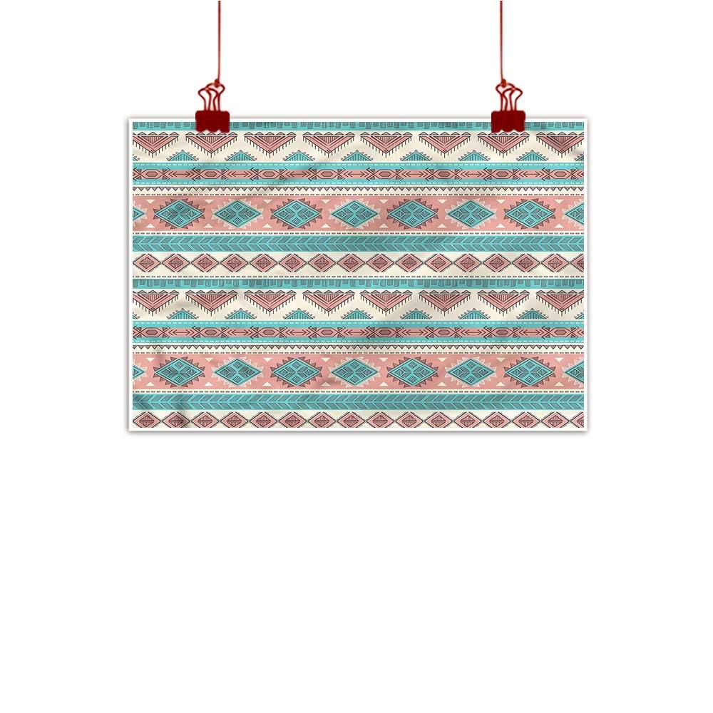 color12 48\ Anzhutwelve Art Poster Print Tribal,African Primitive Design on Canvas Wall Decoration Wrapped
