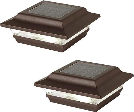 """Classy Caps SL211R Aluminum Imperial Solar Post Cap 4 x 4-Inch Bronze 4/"""" x 4/"""""""