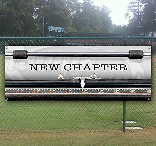 New Chapter 13 oz Heavy Duty Vinyl Banner Sign with Metal Grommets, New, Store, Advertising, Flag, (Many Sizes Available)
