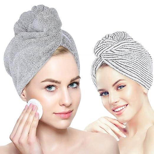 Laluztop Organic Bamboo Hair Towel