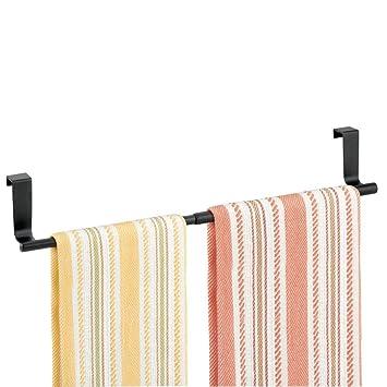 mDesign Toallero para cocina colgante - Soporte para toallas y repasadores - Accesorio para armario,