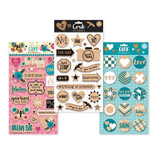 B-THERE Premium Cork Stickers International Greetings