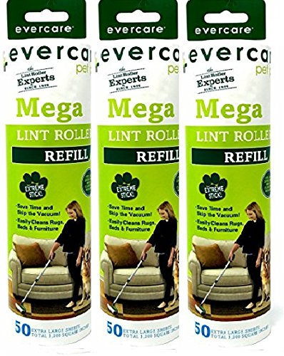 Evercare Pet Mega Roller 50-Layer Refill, Pack of (Pet Refill)