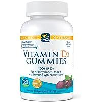 Nordic Naturals Vitamin D3 Gummies, Wild Berry - 1000 IU Vitamin D3-60 Gummies - Great Taste - Healthy Bones, Mood…