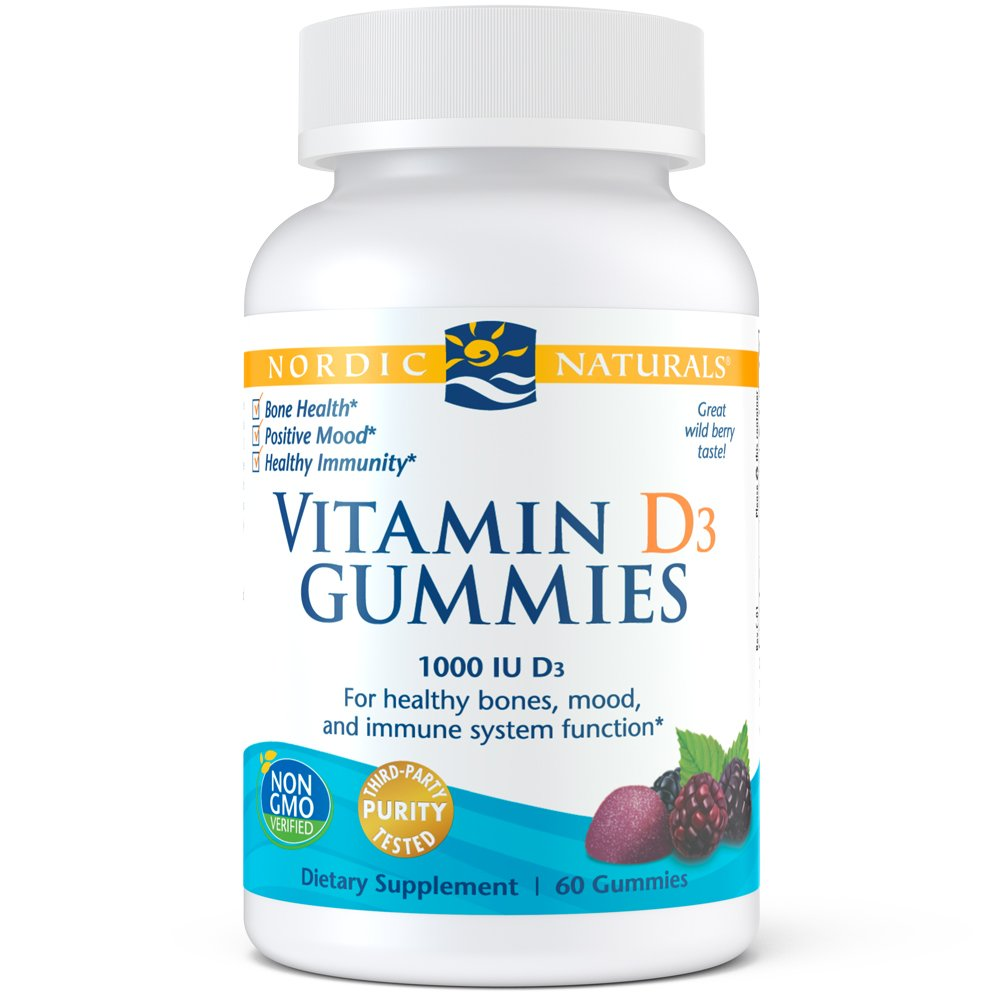Nordic Naturals - Vitamin D3 Gummies, Healthy Bones, Mood, and Immune System Function, 60 Count by Nordic Naturals