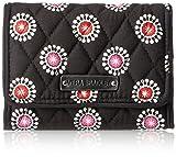 Vera Bradley Women's Petite Trifold Wallet 2, Parisian Poms, One Size
