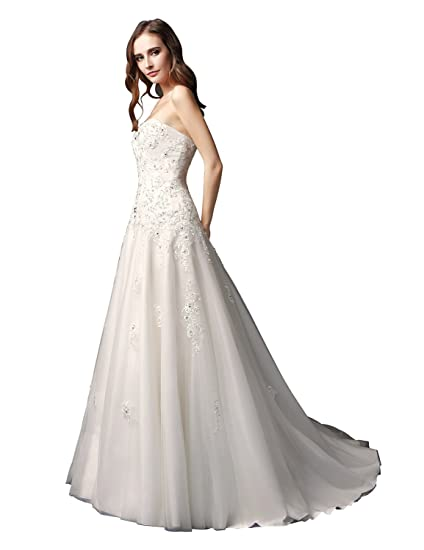 Sarahbridal 2018 New Bridal Mermaid Wedding Dresses Plus Size Tulle Dress  For Women SW092 Ivory Size fb350a5da