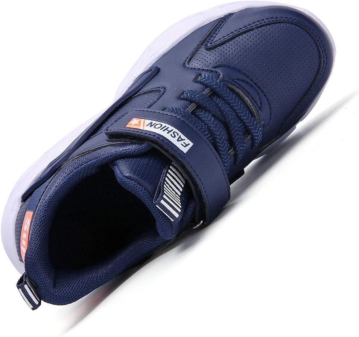 28-41EU HSNA Enfant Baskets Mode L/ég/ères Chaussures de Course l/'/école Gar/çons Fille Sneakers