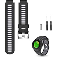 Feskio Breathable Replacement Soft Silicone Watch Band Wrist Sport Strap for Garmin Approach S6 Watch/Forerunner 220/230/235/620/630/735XT/235 Smart Watch